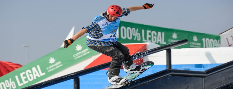 snowboard rail jam