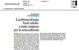 26 Ottobre 2017 - Il Resto Del Carlino (Modena)
