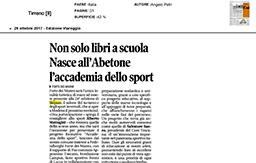 26 Ottobre 2017 - Il Tirreno