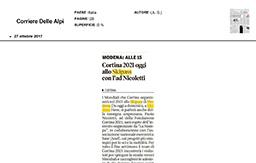 27 Ottobre 2017 - Corriere delle Alpi