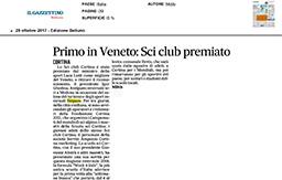 29 Ottobre 2017 - Il Gazzettino Belluno