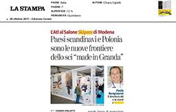29 Ottobre 2017 - La Stampa (Cuneo)