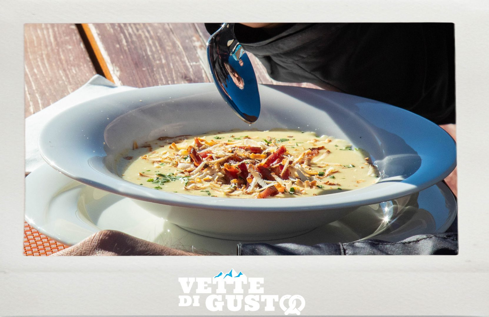 Vette di Gusto - Canazei - Crema di patate con speck e ricotta